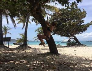 Having some island fun in Grenadines!