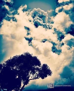 Beautiful cloud picture taken in Antigua.