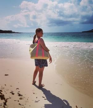 Enjoying the beautiful view in Antigua Island