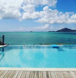 Picture perfect view in Antigua island