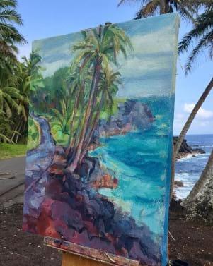 Island art on the Big island of Hawaii.