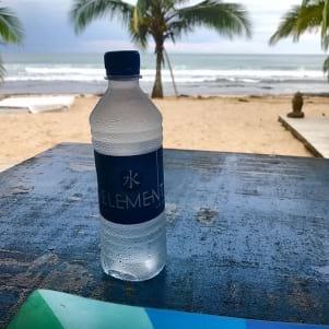 Enjoying the view of the beautiful sea in Bocas del Toro.