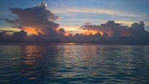 Beautiful sunset in Cat Island