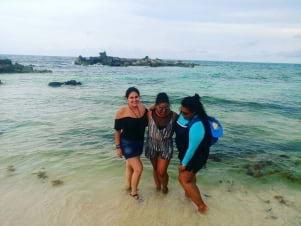 Friends in Cozumel
