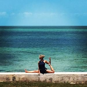 Yoga by the sea in Grand Bahamas is perfect!