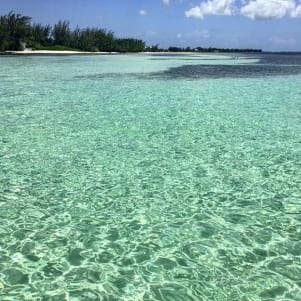 The crystal clear waters off Grand Cayman!