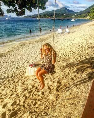 Having fun at Grenada