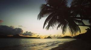 A dreamy sunset in Grenada