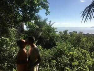Lovely couple on island of Guyane.