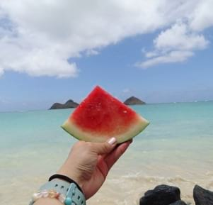 Watermelon by the sea
