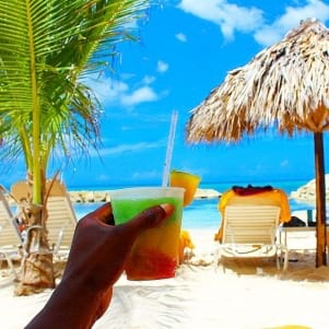A refreshing drink on a hot summer day in Jamaica.!