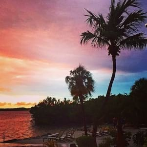 A beautiful sunset on Key Largo after the storm