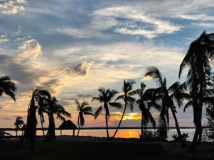 Picture perfect sunset in Key largo.