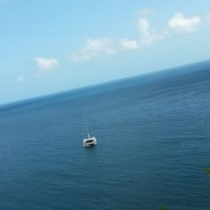 Beautiful picture of the water of Ladders Bay.