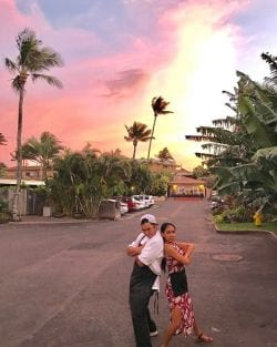 Sunset in a small town Maul Hawaii
