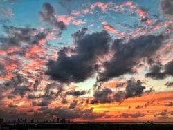 Technicolor sunsets from Miami Beach Florida