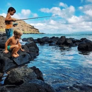 Fishing on a weekend in Molokai.