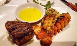 Classic Surf and Turf  dinner on Oahu hawaii