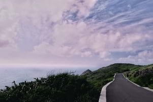 The long and winding road in Oahu.