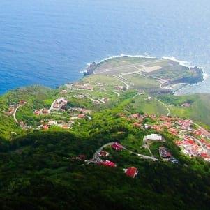 Beautiful aerial view of Saba