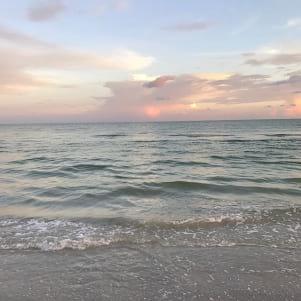 A soft colored sunset on Sanibel Island