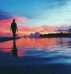 Gorgeous sunset on Sanibel island