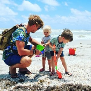 Family enjoying the day on Sanibel Island