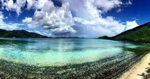 A dreamy photo of St John Islands