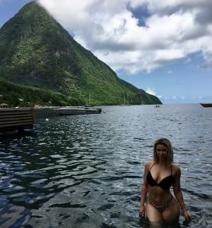 Beautiful scenery in St. Lucia