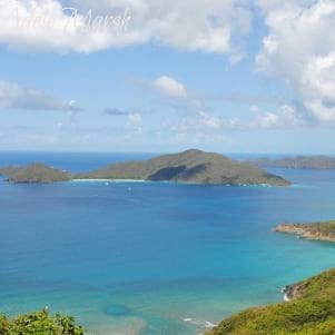 Beautiful view over the bay from the hills in Tortola.