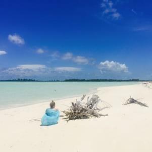 Beautiful white sand beach in Treasure Cay.